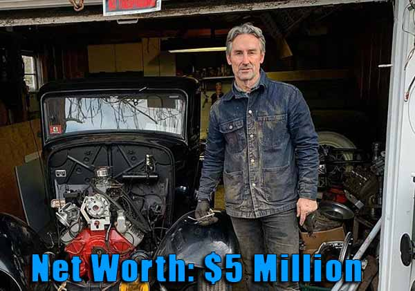Image of Television Producer, Mike Wolfe net worth is $5 million