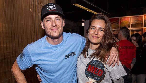 Image of Torrey DeVitto with her boyfriend Jesse Lee Soffer