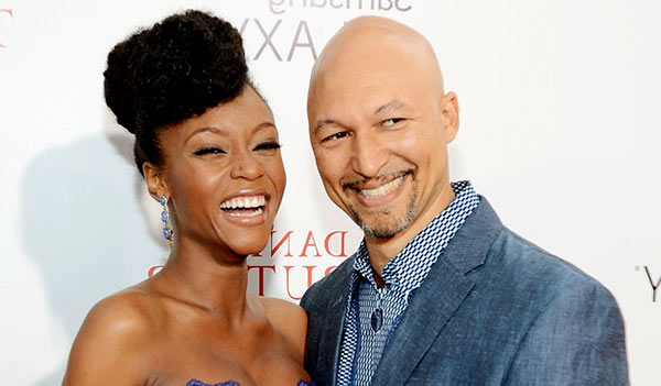 Image of Yaya DaCosta with her husband Joshua Bee Alafia