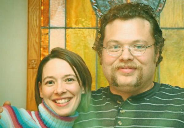Image of Charles Pol with his girlfriend Beth Oakes.