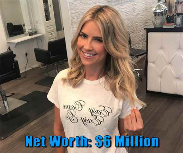 Image of TV Personality, Christina El Moussa net worth is $6 million