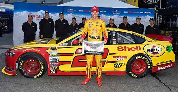 Image of Racing Driver, Joey Logano's car