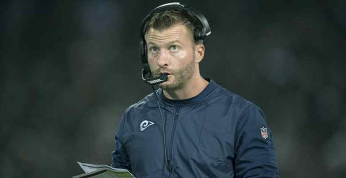 Image of Is Sean McVay married. Know his wife, girlfriend, and relationship with Veronika Khomyn.