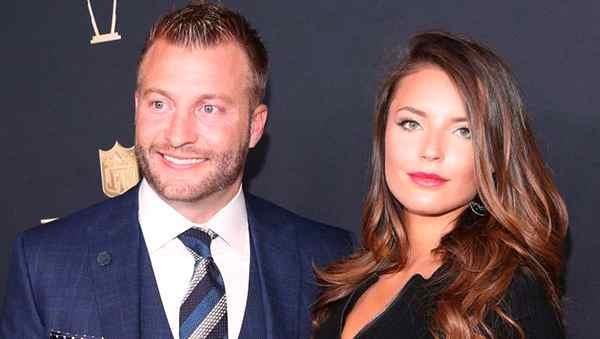 Image of Sean McVay with his girlfriend Veronika Khomyn
