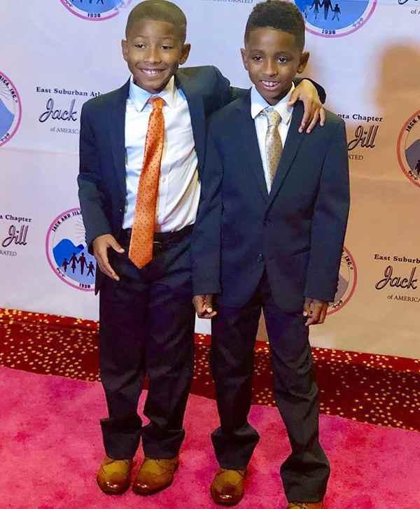 Image of Toya Bush Harris son Ashton and Avery