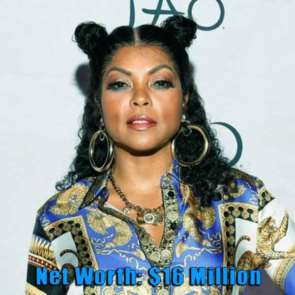 Image of American actress, Taraji P Henson net worth is $16 million