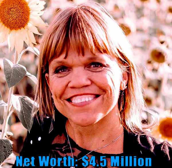 Image of TV actress, Amy Roloff net worth is $4.5 million