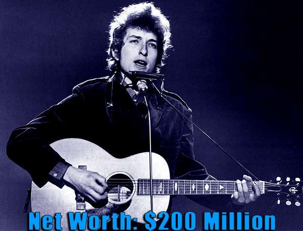 Image of Guitarist, Bob Dylan net worth is $200 million
