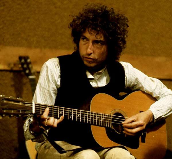 Image of American singer, Bob Dylan