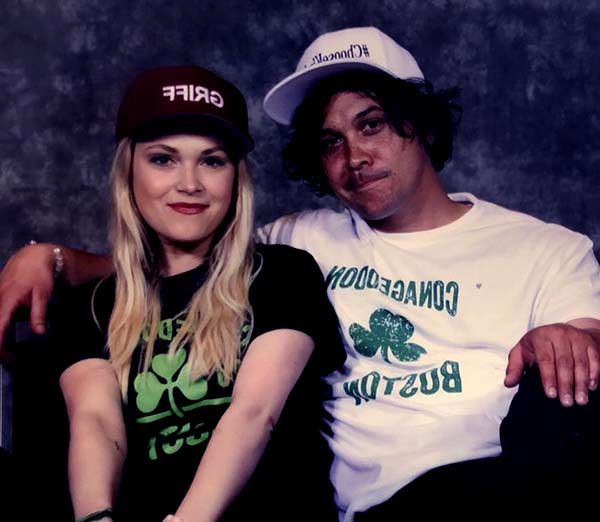 Image of Bob Morley with his wife Eliza Taylor
