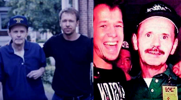Image of Donnie Wahlberg with his father Donald Edward Wahlberg.