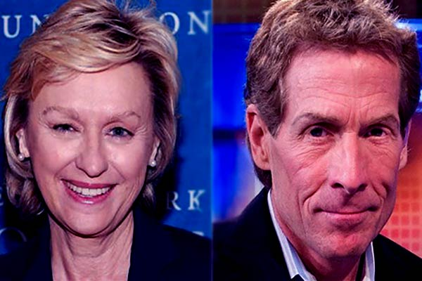 Image of Ernestine Sclafani with ex-husband Skip Bayless