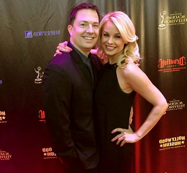 Image of Jessica Collins with her husband Michael Cooney
