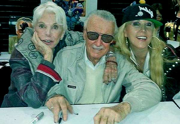 Image of Joan Celia Lee with her father Stan Lee and mother Joan Boocock Lee