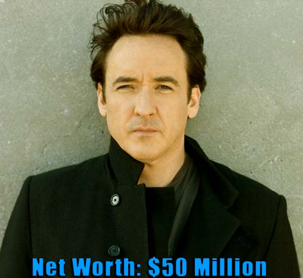 Image of American actor, John Cusack net worth is $50 million