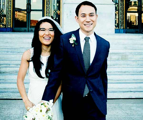Image of Justin Hakuta with his wife Ali Wong
