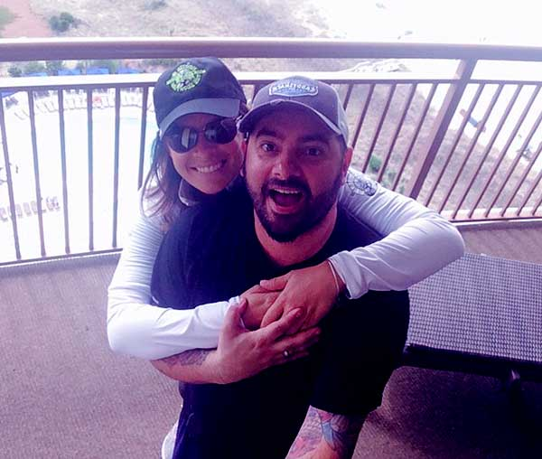 Image of Karly Skladany with her husband Chris Kirkpatrick