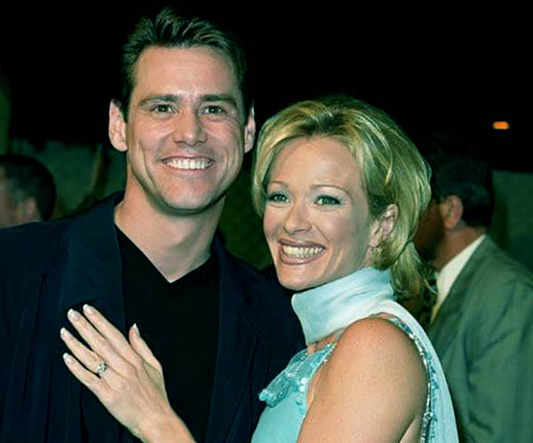 Image of Lauren Holly with her ex husband Jim Carrey
