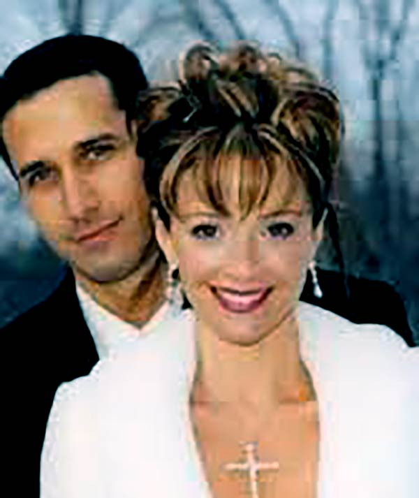 Image of Lauren Holly with her ex husband Francis Greco