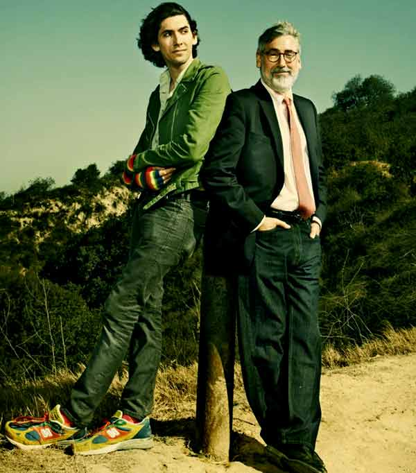 Image of Max Landis with his father John Landis