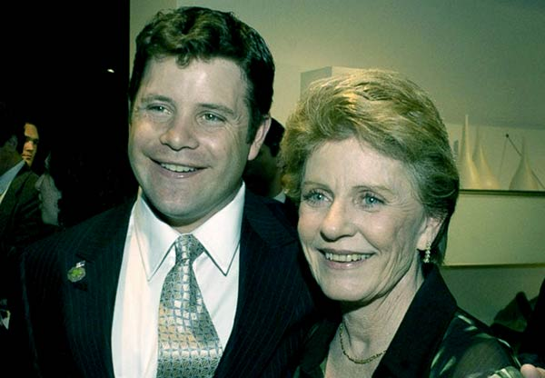 Image of Michael Tell ex-wife Patty Duke with her son Sean Astin
