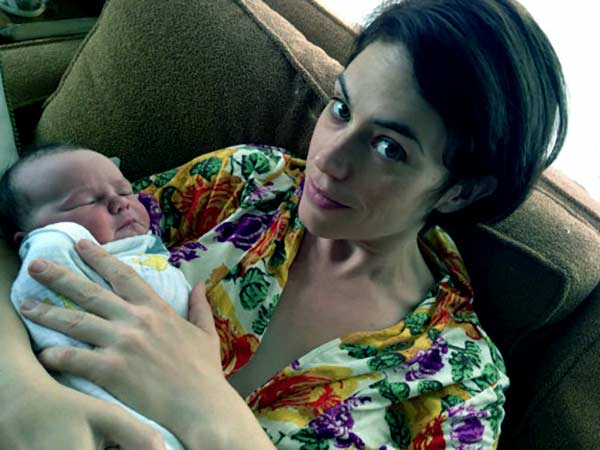 Image of Paul Rafliff wife Maggie Siff with her daughter Lucy