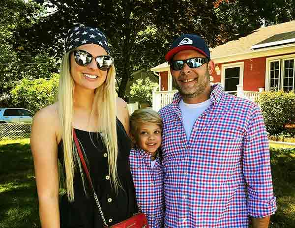 Image of Rachael Biester with her husband Paul Teutul Jr and their son Hudson Seven Teutul