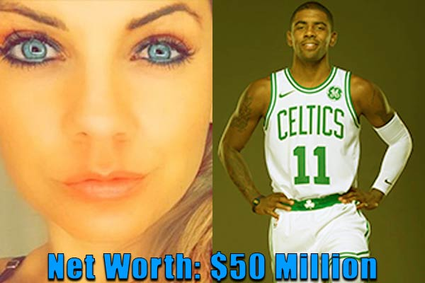 Image of Andrea Wilson's ex-boyfriend, Kyrie Irving net worth is $50 million
