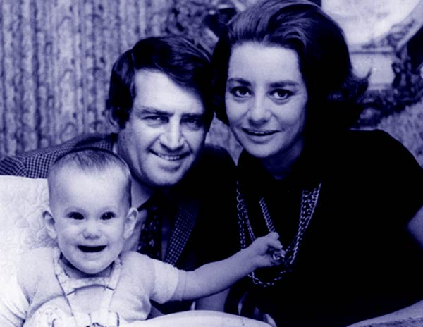 Image of Barbara Walters with her second husband Lee Guber and daughter Jacqueline Dena Guber
