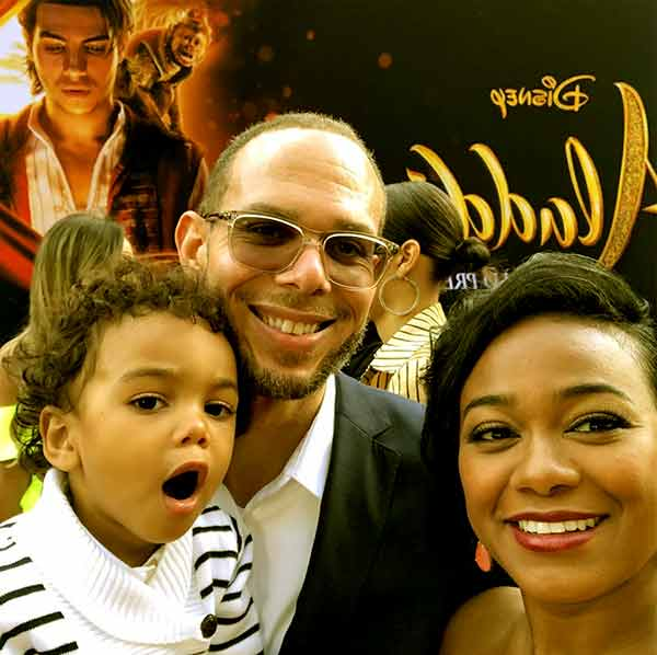 Image of Edward Aszard Rasberry with his mother (Tatyana Ali) and father ( Vaughn Rasberry)