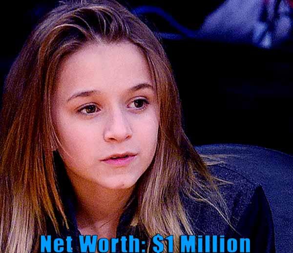 Image of Mark Wahlberg's daughter Ella Rae Wahlberg net worth is $1 million