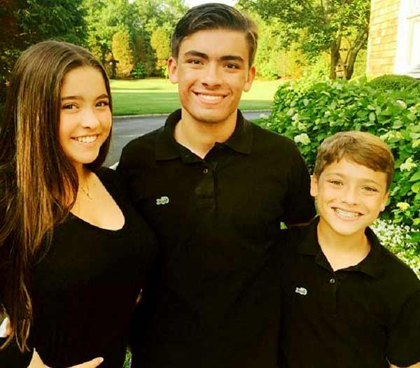 Image of Joaquin Antonio Consuelos with his brother (Michael Joseph Consuelos) and sister (Lola Grace Consuelos)