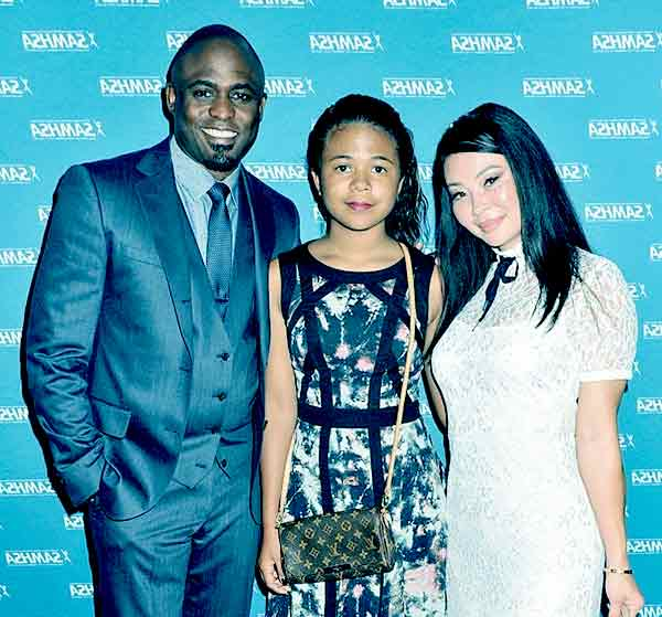 Image of Maile Masako Brady with her father Wayne Brady and mother Mandie Taneka