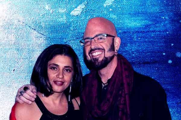 Image of Minoo Rahbar with her husband Jason Galaxy