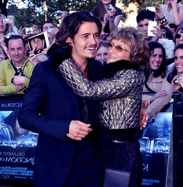 Image of Orlando Bloom with his mother Sonia Constance Josephine
