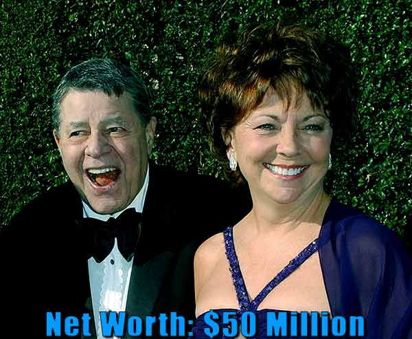 Image of SanDee Pitnick husband Jerry Lewis's net worth is at $50 million.