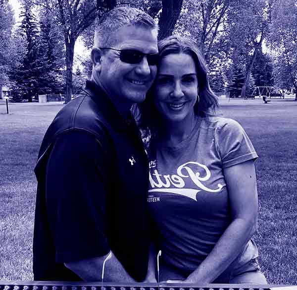 Image of Sara Carter with her husband Martin Bailey