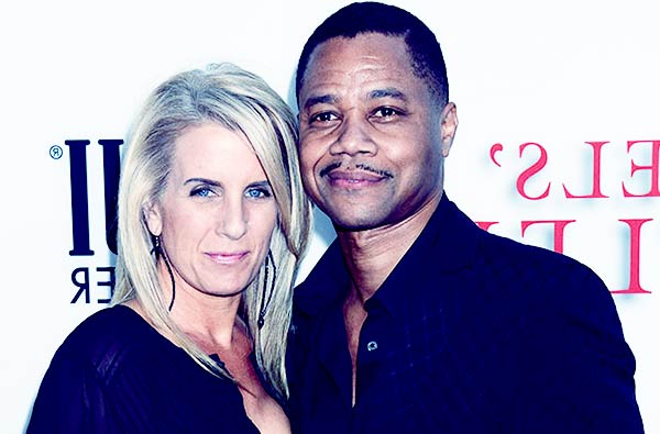 Image of Sara Kapfer with her ex-husband Cuba Gooding Jr when they were still married