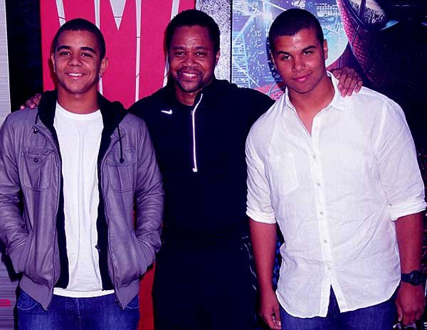Image of Sara Kapfer ex-husband Cuba Gooding Jr. with their kids Spencer Gooding, Mason Gooding