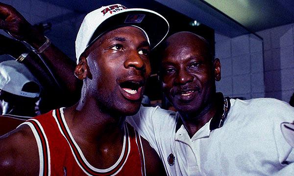 Image of Victoria Jordan father, Michael Jordan and grandfather James K. Jordan Sr