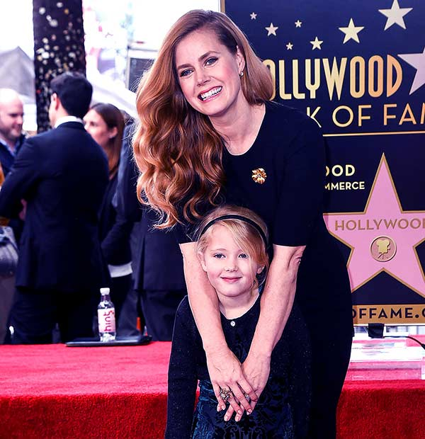 Image of Amy Adams with her daughter Aviana Olea Le Gallo