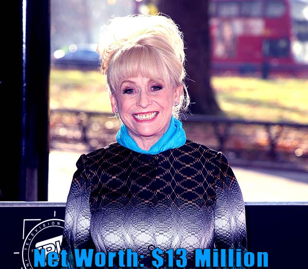 Image of Actress, Barbara Windsor net worth is $13 million