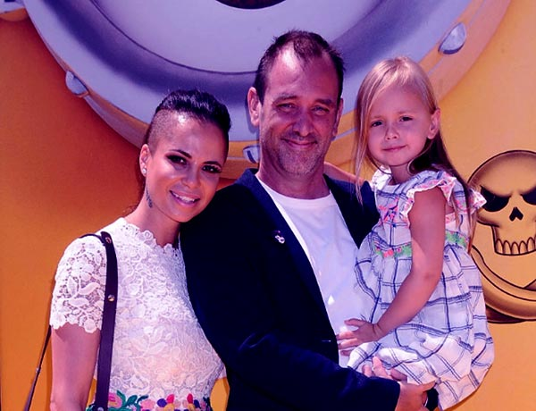 Image of Boogie Tillmon with her ex-husband Trey Parker and with her daughter Betty Boogie Parker