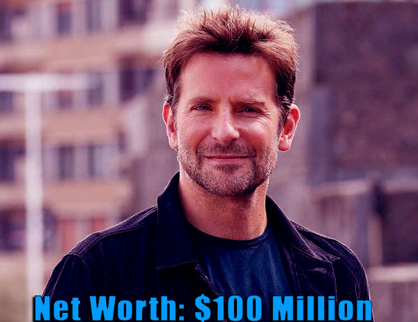 Image of American actor, Bradley Cooper net worth, salary and source of income