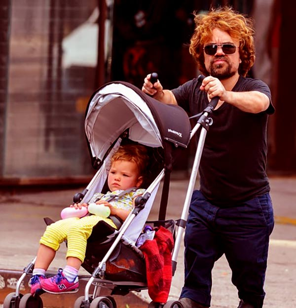 Image of Eric Schmidt husband Peter Dinklage with his daughter Zelig Dinklage