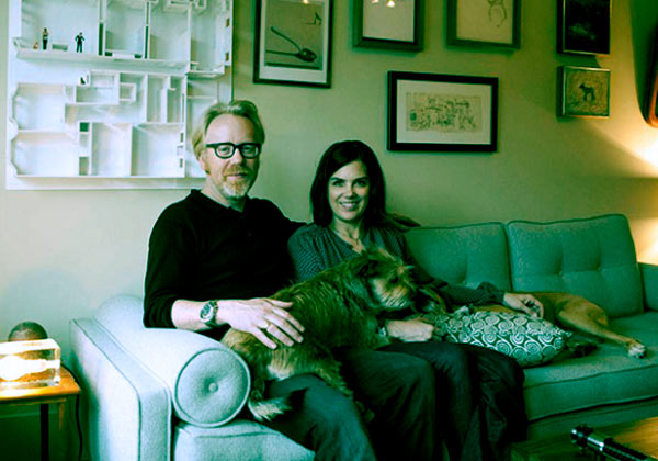 Image of Julia Savage married to husband Adam Savage