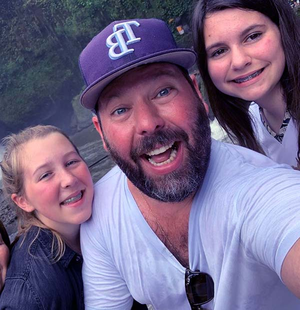 Image of LeeAnn Kreischer married to husband Bert Kreischer with their children Georgia and Ila