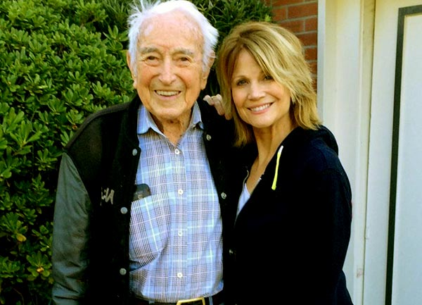 Image of Markie Post with her father Richard F. Post