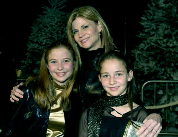 Image of Markie Post with her daughter Katie Ross, and Daisy Ross.