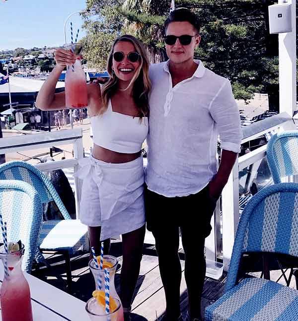 Image of Marny Kennedy dating boyfriend Dan Brown.